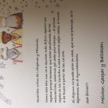 Foto carta de los Reyes